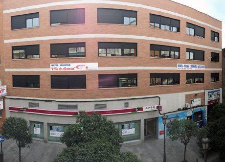 Fachada colegio Villa de Alcorcón